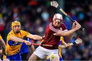 19 November 2017; Conor Cooney of Galway in action against David McInerney of Clare during the AIG Super 11's Fenway Classic Final match between Clare and Galway at Fenway Park in Boston, MA, USA. Photo by Brendan Moran/Sportsfile