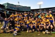 19 November 2017; The Clare team celebrate with the Players Champions Cup after the AIG Super 11's Fenway Classic Final match between Clare and Galway at Fenway Park in Boston, MA, USA. Photo by Brendan Moran/Sportsfile