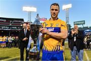 19 November 2017; Clare captain Patrick O'Connor with the Players Champions Cup after the AIG Super 11's Fenway Classic Final match between Clare and Galway at Fenway Park in Boston, MA, USA. Photo by Brendan Moran/Sportsfile