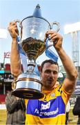 19 November 2017; Clare captain Patrick O'Connor lifts the Players Champions Cup after the AIG Super 11's Fenway Classic Final match between Clare and Galway at Fenway Park in Boston, MA, USA. Photo by Brendan Moran/Sportsfile