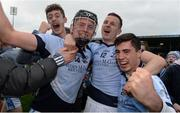 19 November 2017; Na Piarsaigh players, from left, Kevin Downes, David Dempsey and Kieran Daly celebrate after the AIB Munster GAA Hurling Senior Club Championship Final match between Na Piarsaigh and Ballygunner at Semple Stadium in Thurles, Co Tipperary. Photo by Piaras Ó Mídheach/Sportsfile