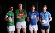 20 November 2017; Footballers, from left, Daryl Flynn of Moorefield, Peter Dignam of Rathnew, John Heslin of St Loman's Mullingar and Padraig McKeever of Simonstown during AIB Leinster GAA Club Senior Football Championship Semi-Final Media Day at Croke Park in Dublin. Photo by Piaras Ó Mídheach/Sportsfile