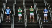 20 November 2017; Footballers, from left, Padraig McKeever of Simonstown, Daryl Flynn of Moorefield, Peter Dignam of Rathnew and John Heslin of St Loman's Mullingar during AIB Leinster GAA Club Senior Football Championship Semi-Final Media Day at Croke Park in Dublin. Photo by Piaras Ó Mídheach/Sportsfile