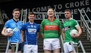 20 November 2017; Footballers, from left, Padraig McKeever of Simonstown, John Heslin of St Loman's Mullingar, Peter Dignam of Rathnew, and Daryl Flynn of Moorefield during AIB Leinster GAA Club Senior Football Championship Semi-Final Media Day at Croke Park in Dublin. Photo by Piaras Ó Mídheach/Sportsfile