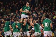 18 November 2017; Devin Toner of Ireland during the Guinness Series International match between Ireland and Fiji at the Aviva Stadium in Dublin. Photo by Sam Barnes/Sportsfile