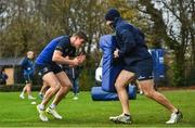 20 November 2017; Garry Ringrose and Elite Player Development Officer Hugh Hogan during Leinster rugby squad training at Leinster Rugby Headquarters in Dublin. Photo by Ramsey Cardy/Sportsfile