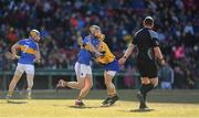19 November 2017; Sean Curran of Tipperary in action against David McInerney of Clare during the AIG Super 11's Fenway Classic Semi-Final match between Clare and Tipperary at Fenway Park in Boston, MA, USA. Photo by Brendan Moran/Sportsfile