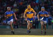 19 November 2017; Cathal Malone of Clare in action against John O'Dwyer, left, and John McGrath of Tipperary during the AIG Super 11's Fenway Classic Semi-Final match between Clare and Tipperary at Fenway Park in Boston, MA, USA. Photo by Brendan Moran/Sportsfile