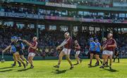19 November 2017; Conor Cooney of Galway scores a goal during the AIG Super 11's Fenway Classic Semi-Final match between Dublin and Galway at Fenway Park in Boston, MA, USA. Photo by Brendan Moran/Sportsfile