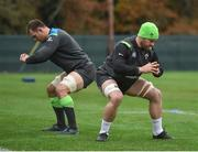 21 November 2017; Sean O'Brien, right, and Rhys Ruddock during Ireland rugby squad training at Carton House in Maynooth, Co Kildare. Photo by Seb Daly/Sportsfile