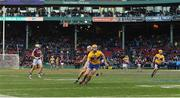 19 November 2017; Bobby Duggan of Clare handpasses the sliotar during the AIG Super 11's Fenway Classic Final match between Clare and Galway at Fenway Park in Boston, MA, USA. Photo by Brendan Moran/Sportsfile