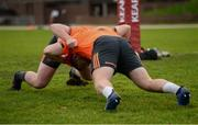 21 November 2017; Brian Scott, left, and Liam O'Connor of Munster during Munster Rugby Squad Training at the University of Limerick in Limerick. Photo by Diarmuid Greene/Sportsfile