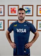 21 November 2017; Martin Landajo poses for a portrait following an Argentina Rugby press conference at the Conrad Hotel in Dublin. Photo by David Fitzgerald/Sportsfile