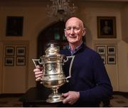 22 November 2017; Kilkenny manager Brian Cody with the Corn Ui Dhuill Cup that he won as captain of St Kieran's College team in 1971 during the Top Oil Leinster Senior A Hurling Championship Launch at St Kieran's College in Kilkenny. Photo by Matt Browne/Sportsfile