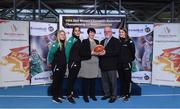 22 November 2017; In attendance as Basketball Ireland officially announce the venue for FIBA 2018 Women's European Championship for Small Countries are, from left, Danielle O'Leary of Ireland, Grainne Dwyer of Ireland, Theresa Walsh, President of Basketball Ireland, Patsy Ryan, General Manager of the Mardyke Arena UCC, and Claire Rockall, at Mardyke Arena in Cork. Photo by Sam Barnes/Sportsfile