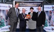22 November 2017; In attendance as Basketball Ireland officially announce the venue for FIBA 2018 Women's European Championship for Small Countries is Cllr. Terry Shannon, Deputy Lord Mayor, with from left, Bernard O'Byrne, Secretary General of Basketball Ireland, Theresa Walsh, President of Basketball Ireland and Patsy Ryan, General Manager of the Mardyke Arena UCC at Mardyke Arena in Cork. Photo by Sam Barnes/Sportsfile