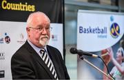 22 November 2017; Patsy Ryan, General Manager of the Mardyke Arena UCC, speaking as Basketball Ireland officially announce the venue for FIBA 2018 Women's European Championship for Small Countries at Mardyke Arena in Cork. Photo by Sam Barnes/Sportsfile
