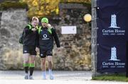 23 November 2017; James Tracy and Andrew Conway arrive for Ireland rugby squad training at Carton House in Maynooth, Kildare. Photo by Stephen McCarthy/Sportsfile