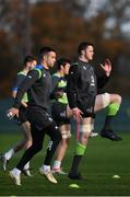23 November 2017; James Ryan, right, and Conor Murray during Ireland rugby squad training at Carton House in Maynooth, Kildare. Photo by Stephen McCarthy/Sportsfile