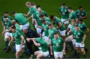 24 November 2017; The Ireland squad break from a squad photograph ahead of Ireland rugby captain's run at the Aviva Stadium in Dublin. Photo by Ramsey Cardy/Sportsfile