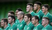 24 November 2017; Adam Byrne, back row, centre, stands with his team-mates in the squad photo before Ireland rugby captain's run at the Aviva Stadium in Dublin. Photo by Piaras Ó Mídheach/Sportsfile
