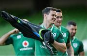 24 November 2017; Jonathan Sexton during Ireland rugby captain's run at the Aviva Stadium in Dublin. Photo by Piaras Ó Mídheach/Sportsfile