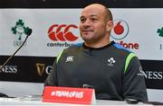 24 November 2017; Captain Rory Best during an Ireland rugby press conference at the Aviva Stadium in Dublin. Photo by Ramsey Cardy/Sportsfile