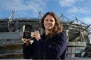 24 November 2017; Noelle Healy of Dublin with The Croke Park Hotel & LGFA Player of the Month Award for September at The Croke Park Hotel in Dublin. Photo by Cody Glenn/Sportsfile