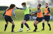 24 November 2017; Niamh Fahey and Leanne Kiernan, right, during a Republic of Ireland training session at the FAI National Training Centre in Abbotstown, Dublin. Photo by Stephen McCarthy/Sportsfile