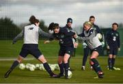 24 November 2017; Roma McLaughlin with Karen Duggan, left, and Denise O'Sullivan, right, during a Republic of Ireland training session at the FAI National Training Centre in Abbotstown, Dublin. Photo by Stephen McCarthy/Sportsfile