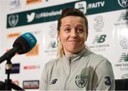 24 November 2017; Harriet Scott during a Republic of Ireland press conference at the FAI National Training Centre in Abbotstown, Dublin. Photo by Stephen McCarthy/Sportsfile