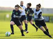 24 November 2017; Aislinn Meaney and Karen Duggan, right, during a Republic of Ireland training session at the FAI National Training Centre in Abbotstown, Dublin. Photo by Stephen McCarthy/Sportsfile