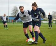 24 November 2017; Aislinn Meaney and Tyler Toland, left, during a Republic of Ireland training session at the FAI National Training Centre in Abbotstown, Dublin. Photo by Stephen McCarthy/Sportsfile