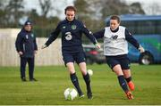 24 November 2017; Dearbhaile Beirne, left, and Harriet Scott during a Republic of Ireland training session at the FAI National Training Centre in Abbotstown, Dublin. Photo by Stephen McCarthy/Sportsfile