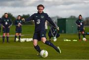 24 November 2017; Dearbhaile Beirne during a Republic of Ireland training session at the FAI National Training Centre in Abbotstown, Dublin. Photo by Stephen McCarthy/Sportsfile
