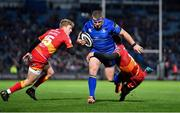 24 November 2017; Sean Cronin of Leinster is tackled by Adam Warren of Dragons during the Guinness PRO14 Round 9 match between Leinster and Dragons at the RDS Arena in Dublin. Photo by Brendan Moran/Sportsfile