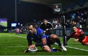 24 November 2017; Isa Nacewa of Leinster scores his side's second try during the Guinness PRO14 Round 9 match between Leinster and Dragons at the RDS Arena in Dublin. Photo by Ramsey Cardy/Sportsfile