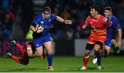 24 November 2017; Sean Cronin of Leinster is tackled by Ollie Griffiths of Dragons during the Guinness PRO14 Round 9 match between Leinster and Dragons at the RDS Arena in Dublin. Photo by Ramsey Cardy/Sportsfile