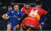 24 November 2017; Jordan Larmour of Leinster breaks through the Dragons defence to set up his side's eighth try during the Guinness PRO14 Round 9 match between Leinster and Dragons at the RDS Arena in Dublin. Photo by Brendan Moran/Sportsfile