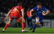 24 November 2017; Jordi Murphy of Leinster during the Guinness PRO14 Round 9 match between Leinster and Dragons at the RDS Arena in Dublin. Photo by Ramsey Cardy/Sportsfile