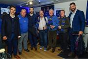 24 November 2017; Leinster players Joey Carbery, Mick Kearney, Barry Daly and Dan Leavy with supporters in The Blue Room ahead of the Guinness PRO14 Round 9 match between Leinster and Dragons at the RDS Arena in Dublin. Photo by Ramsey Cardy/Sportsfile