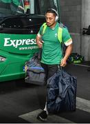 25 November 2017; Bundee Aki of Ireland arrives ahead of the Guinness Series International match between Ireland and Argentina at the Aviva Stadium in Dublin. Photo by Ramsey Cardy/Sportsfile