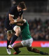 25 November 2017; Tomas Lezana of Argentina is tackled by Bundee Aki of Ireland during the Guinness Series International match between Ireland and Argentina at the Aviva Stadium in Dublin. Photo by Eóin Noonan/Sportsfile