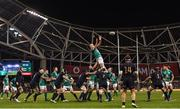 25 November 2017; Devin Toner of Ireland wins possession from a lineout during the Guinness Series International match between Ireland and Argentina at the Aviva Stadium in Dublin. Photo by Ramsey Cardy/Sportsfile