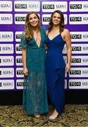 25 November 2017; Dublin footballers Sinéad Finnegan, left, and Noelle Healy in attendance during the TG4 Ladies Football All-Star Awards at the CityWest Hotel in Saggart, Co Dublin. Photo by Brendan Moran/Sportsfile