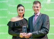 25 November 2017; Eve McCrystal receives the Winner of the National Road Series award from Geoff Liffey, CEO of Cycling Ireland, during the Cycling Ireland Awards at the Crowne Plaza Hotel, Dublin. Photo by Stephen McMahon/Sportsfile