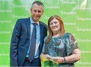 25 November 2017; Ciaran McKenna, President of Cycling Ireland, presents Alice Sheratt with the Honorary Life Member award during the Cycling Ireland Awards at the Crowne Plaza Hotel, Dublin. Photo by Stephen McMahon/Sportsfile