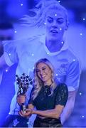 25 November 2017; Nicole Owens of Dublin with her All-Star Award during the TG4 Ladies Football All-Star Awards at the CityWest Hotel in Saggart, Co Dublin. Photo by Cody Glenn/Sportsfile