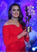 25 November 2017; Aimee Mackin of Armagh with her TG4 All Star award during the TG4 Ladies Football All-Star Awards at the CityWest Hotel in Saggart, Co Dublin. Photo by Brendan Moran/Sportsfile