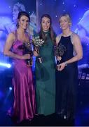 25 November 2017; Mayo team-mates, from left, Aileen Gilroy, Sarah Tierney, and Cora Staunton, with their All-Star Awards during the TG4 Ladies Football All-Star Awards at the CityWest Hotel in Saggart, Co Dublin. Photo by Cody Glenn/Sportsfile